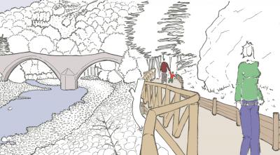 Ponte della Fola da nuovi punti di vista – Percorso di accesso al Ponte della Fola (Pievepelago-MO)